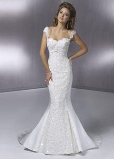 mermaid wedding dresses no train | Mermaid Cap Sleeve Sweep Train Wedding Dress/WD0657 - Kr:3.900,00 ...