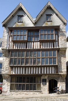 The timber framed Elizabethan Merchant's House in Plymouth, Devon. Originally the house of a well to do builder the Merchant's house is now a museum of local history, ancient and modern