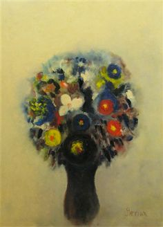 Margareta Sterian Jewish-Romanian) - Floral Composition - oil on cardboard Bouquets, Composition, Oil, Artists, Floral, Painting, Bunch Of Flowers, Bouquet, Bouquet Of Flowers