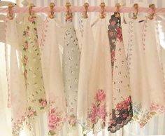 4467712255063235445988 idea for shabby chic curtain topper using hankerchiefs