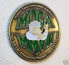 2007 MOGA - Antique Bronze Finish - New Unactivated Geocoin