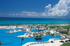 Spent our honeymoon here at Mayan Palace Riviera Maya in Mexico. It is every bit as beautiful as shown here. I dream of going back one day. Supposedly the largest pool in Latin America, huge suites and outstanding service, mean margaritas and a gorgeous beach.