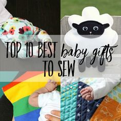 A roundup of free baby sewing patterns that are perfect gifts to sew for baby showers! Handmade baby gifts are so much fun to make and you have over 100 free patterns to choose from.