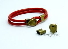 2 sets Antique Brass button Clasp for Leather by frameyourbag, €3.99