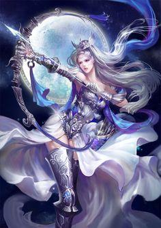 Artemis by ~jjlovely on deviantART ((part of Sailor X's background))