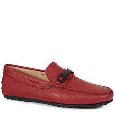 TOD'S City Gommino Driving Shoes in Leather. #tods #shoes #city gommino mokassins