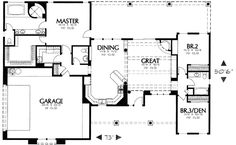 ! Nice, turn that 1/2 bath off the kitchen into a walk in pantry and change the exterior from Southwestern to Southern... 1907 sq ft small house plan with good floor plan.