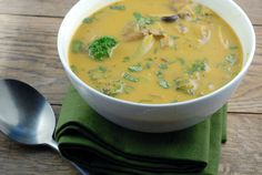 This gluten free Thai Vegetable Soup can be made in a jiffy with all natural, easy to find ingredients.