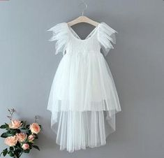 PRE ORDER - White Veronica Tulle High Low Dress – Ruffles & Bowties Bowtique Lace overlay paired with layered high-low tulle and tatter-sleeve finish for endless movement and elegance! Chic Outfits, Trendy Outfits, Girl Outfits, Fall Fashion 2016, Vintage Inspired Dresses, Lace Overlay, Ruffle Dress, High Low, Business Baby