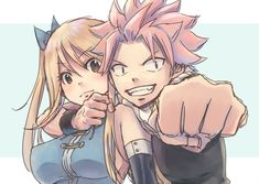 Natsu and Lucy nalu Natsu Fairy Tail, Fairy Tail Ships, Fairy Tail Family, Fairy Tail Couples, Anime Fairy, Natsu Und Lucy, Fairy Tail Photos, Fairy Tail Lucy, A Silent Voice