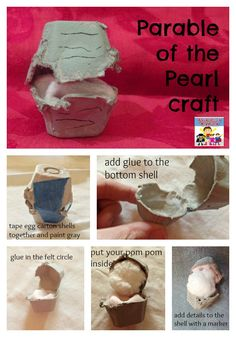 The Parable of the Pearl is a very short with a big lesson. Kids can enjoy making a pearl craft together and learning more about God's kingdom. Children's Church Crafts, Vbs Crafts, Preschool Crafts, Crafts For Kids, Preschool Bible, Bible Activities, Bible Lessons For Kids, Bible For Kids, Preschool Lessons
