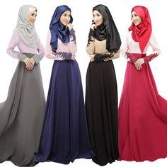 Lace Stitching Abaya Muslim Dress Elegant Abaya Turkish Women Dresses Arab Garment Fashion Long Dress Plus Size Islamic Clothing #Islamic clothing Muslim Evening Dresses, Evening Gowns With Sleeves, Muslim Dress, Lace Dress With Sleeves, Lace Up, Dubai, Maxi Outfits, Maxi Dresses, Long Dresses