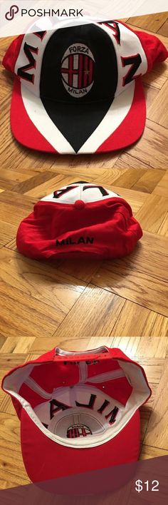 Milan Forza Hat red and white Milan Forza hat Accessories Hats
