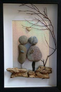 Pebble art Pebble engagement gift Pebble by madebynatureandme