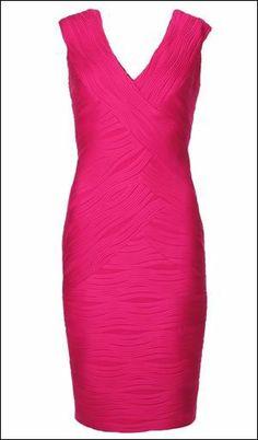 Joseph Ribkoff Dress | Pink | Flattering | Spring Summer 2014 Collection. #fashion #josephribkoff #pink #dress #stretch.