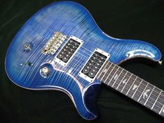 Beautiful blue PRS guitar