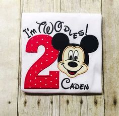 Mickey Mouse Second Birthday Shirt - Twodles - Oh Toodles Mickey Mouse Birthday Shirt, Mickey Mouse Clubhouse Birthday Party, Mickey Mouse Parties, Mickey Party, Second Birthday Ideas, 2nd Birthday Parties, Birthday Fun, Twin Birthday, Party Ideas