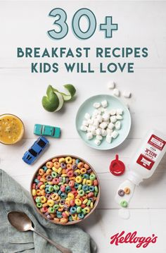 There's something about a colorful bowl of cereal that instantly puts a smile on your kid's face. Whether you're looking for an after-school snack idea or an easy breakfast, this collection of recipes using Kellogg's® cereal is sure to be a hit with your family.