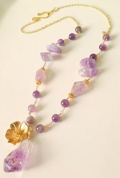 Amethyst Necklace - Georgeous designe - Collar Amatista-amatista-collar-joyeria fina-joyeria Amatista