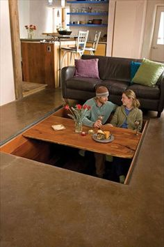 Dining Room Table With Hidden Storage (Dining Room Table With Hidden Storage) design ideas and photos Room Interior, Interior Design Living Room, Hidden Rooms, Hidden Spaces, Secret Rooms, Hidden Storage, Secret Storage, Gun Storage, Craft Storage