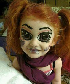 scary meisje schminken