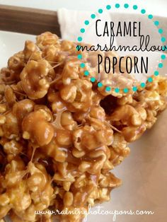Caramel Marshmallow Popcorn  1/2 cup butter 1 cup brown sugar 1 1/2 tablespoons light karo syrup (corn syrup) 14 large marshmallows 1 package microwave popcorn  Instructions  Pop the bag of popcorn and strain any seeds  Melt butter in pan Add brown sugar and karo syrup to butter and melt (do not burn) Add marshmallows and melt while stirring over medium heat Pour caramel marshmallow mixture over popped popcorn