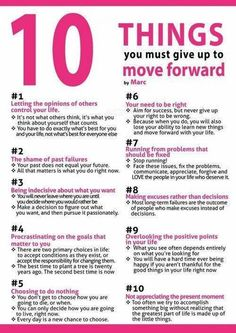 10 Things For Moving Forward-- i really need to do these