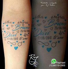 Tatuagem homenagem aos filhos! https://www.instagram.com/rj.tattoo.sjc/