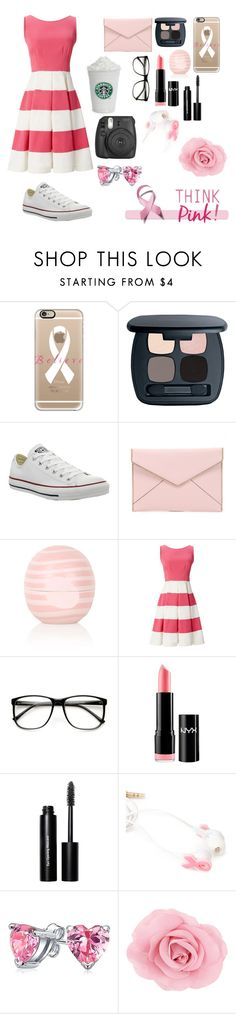 """""""Believe!"""" by ahriraine ❤ liked on Polyvore featuring Casetify, Bare Escentuals, Converse, Rebecca Minkoff, Topshop, Kate Spade, NYX, Bobbi Brown Cosmetics, Forever 21 and Bling Jewelry"""