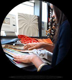 Interior Design student working