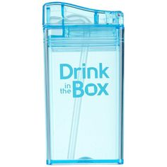 Drink in the Box is een herbruikbaar drinkpakje. Gezond voor kinderen en goed voor het milieu. Je bepaalt zelf de inhoud en ziet wat je drinkt!