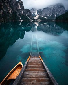 Let's take a walk. Lago di Braies Dolomites Italy | Photo by @guerelsahin by earthpix