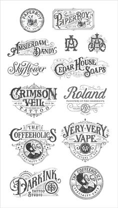 All Time Best & Beautiful HandDrawn Logotype Examples by Tobias Saul is part of Vintage logo design - Here I am putting forward a post of alltime best & beautiful handdrawn logotype examples by Tobias Saul Vintage Logo Design, Vintage Typography, Typography Letters, Vintage Fonts, Vintage Graphic, Vintage Type, Calligraphy Letters, Typography Quotes, Vintage Labels