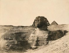 John B. Greene Le Sphinx de Gizeh (Le Nil, pl. 1) 1854 Papier salé daprès négatif papier. 23,5 x 30 cm