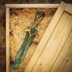 A dagger of malachite and moonstone by Impact Props