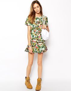 Image 1 ofThe Fifth Second Chance Skirt in Tropical Print