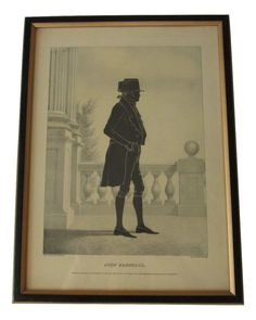 Silhouette E.B. & E.C. Kellogg Lithographed 1844 of John Marshall