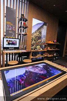 Timberland the Great outdoor uses technology to tell its story #retail #design #stories What is retail storytelling? https://www.sishop.com.au/blog/introduction-to-retail-storytelling/