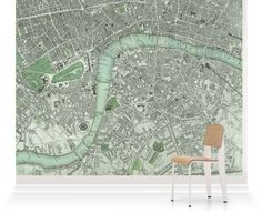 Murals of Chart of London City by National Maritime Museum (3000mm x 2400mm) | Shop | Surface View