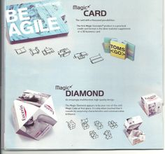 a magic card and magic diamond will help you in branding your company..