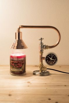 PIPE STORY-파이프조명 Industrial style Pipe Lamp - 즐거운 온라인 쇼핑공간에 오신 것을 환영합니다! Pipe Desk, Pipe Table, Pipe Lamp, Vintage Lamps, Vintage Industrial, Desk Lamp, Table Lamp, Candle Warmer, Black Pipe