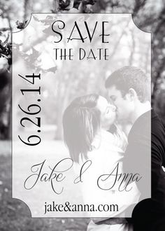 Classic Save The Date Wedding Invitation, Printable, DIY