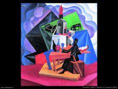 Bevitore Anacapri by Fortunato Depero (Italian 1892 – Abstract Art Images, Art Eras, Wine Art, Italian Painters, Caravaggio, Art Deco Era, Best Graphics, Retro Design, Graffiti