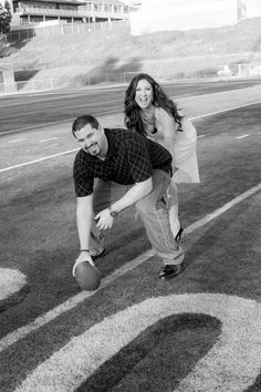 High School Sweethearts - Engagement Photography - Football couple Photo By Celeste Nicole Photography