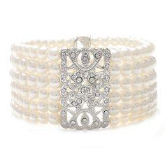 "Vintage Pearl ""Opera""  Bracelet"