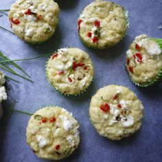 Egg and chive savoury muffins, a delicious recipe from the new M&S app.