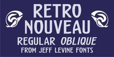 Retro Nouveau JNL font download
