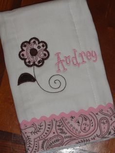 Dressed up cloth diapers make great burp cloths, and fun personalized baby gifts!