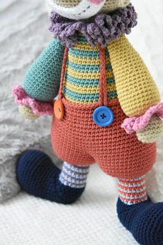 PATTERN Chatterbox the Clown crochet amigurumi pattern