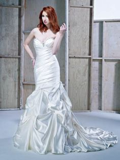 Style BE176 / Ella Rosa Collection / by Ella Rosa / Available Colours : Ivory/Silver, White/Silver, Diamond White/Silver (Shown neckline with Beaded embellishment)